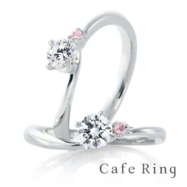 【ジュエリーIKEDA(池田時計店)】【ローズヒップ デュー】優しいラインとピンクダイヤの愛されリング