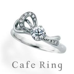 【ジュエリーIKEDA(池田時計店)】【ル・ルバン】ファション誌で人気!リボンモチーフの婚約指輪