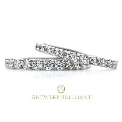"""【ANTWERP BRILLIANT(アントワープブリリアント)】""""D Line Nebula"""" Diamond Full Eternity Ring """"ディーライン ネビュラ""""ダイヤモンド フルエタニティ リング"""