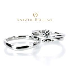 """【ANTWERP BRILLIANT(アントワープブリリアント)】""""Full Moon"""" Wedding Band Ring """"フルムーン"""" ウエディングバンド リング"""