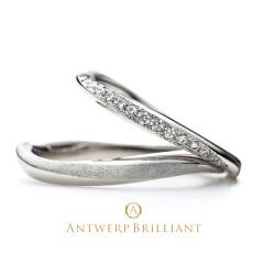 """【ANTWERP BRILLIANT(アントワープブリリアント)】""""galaxy""""Wedding Band Ring""""ギャラクシー""""ウエディングバンド リング"""