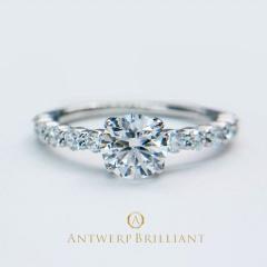 """【ANTWERP BRILLIANT(アントワープブリリアント)】""""D Line Star""""0.5ct-0.7ct Diamond Harf Eternity Ring """"ディーライン スター"""" ダイヤモンド ハーフエタニティ リング"""