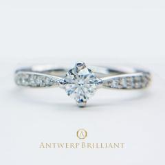 """【ANTWERP BRILLIANT(アントワープブリリアント)】""""Sirius"""" 4 Claws Collet Daimond Ring """"シリウス"""" 4クローズ コレット ダイヤモンド リング"""