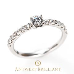 """【ANTWERP BRILLIANT(アントワープブリリアント)】ANTWERP BRILLIANT """"D Line Star"""" Diamond Harf Eternity Ring """"ディーライン スター"""" ダイヤモンド ハーフエタニティ リング"""