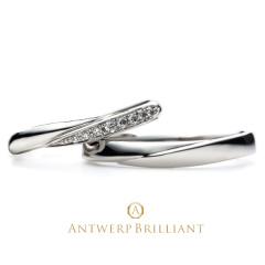 "【ANTWERP BRILLIANT(アントワープブリリアント)】Spica Wedding Band Ring ""スピカ""ウエディングバンド リング"