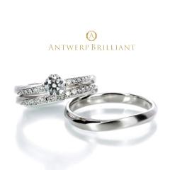"【ANTWERP BRILLIANT(アントワープブリリアント)】""Vega"" Wedding Band Ring ""べガ"" ウエディングバンド リング"
