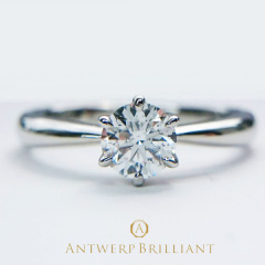 "【ANTWERP BRILLIANT(アントワープブリリアント)】ワンハーティーローズ ""One Hearty Rose"" Solitaire Diamond Ring """