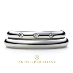 "【ANTWERP BRILLIANT(アントワープブリリアント)】""One Hearty Rose"" Wedding Band Ring ""ワンハーティーローズ""ウエディングバンドリング"