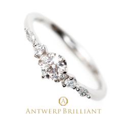 """【ANTWERP BRILLIANT(アントワープブリリアント)】Five Star Rround&Marquise cut Diamond Line Ring """"ファイヴ スター"""" ラウンド&マーキースカット ダイヤモンド ライン リング"""