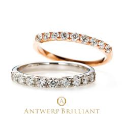 """【ANTWERP BRILLIANT(アントワープブリリアント)】""""D Line"""" Diamond Harf Eternity Ring """"ディーライン"""" ダイヤモンド ハーフエタニティ リング"""