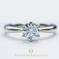 "【ANTWERP BRILLIANT(アントワープブリリアント)】ANTWERP BRILLIANT ""One Hearty Rose"" Solitaire Diamond Ring ""ワンハーティーローズ"" ソリテール ダイヤモンド リング"