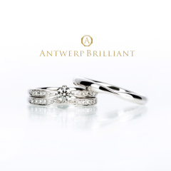 "【ANTWERP BRILLIANT(アントワープブリリアント)】""Sirius"" Wedding Band Ring ""シリウス"" ウエディングバンドリング"