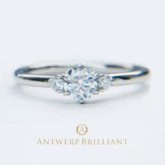 """【ANTWERP BRILLIANT(アントワープブリリアント)】""""Asterism"""" Three Stone Diamond Ring """"アステリズム"""" スリー ストーン ダイヤモンドリング"""