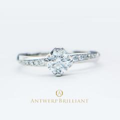"【ANTWERP BRILLIANT(アントワープブリリアント)】""Vega"" Side Pave Setting Diamond Ring ""べガ"" サイド パヴェ セッティング ダイヤモンドリング"