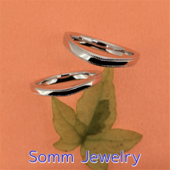 【SommJewelry(ソムジュエリー)】ミルグレインUラインリング