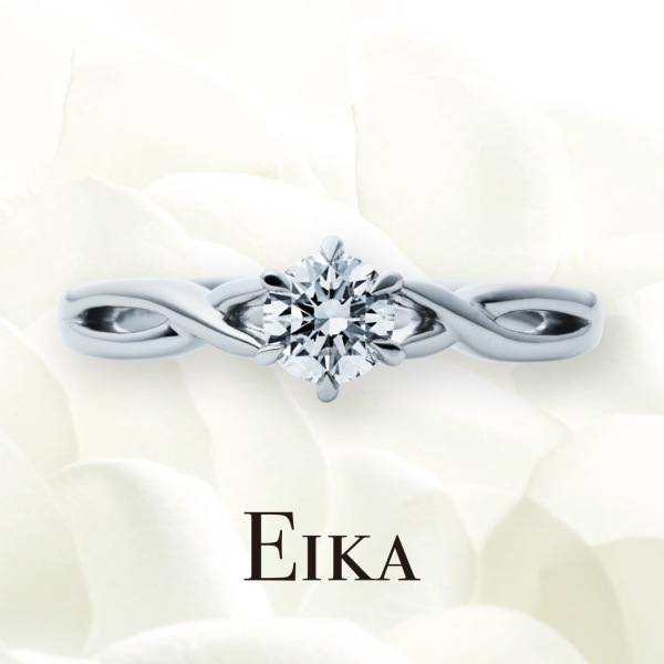 【EIKA(エイカ)】ウェーブ/EC1016/PT950/マスター|婚約指輪|EIKA