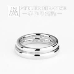 【アトリエミラネーゼ】2人で手作り結婚指輪 内彫りは四葉と音符のイニシャル