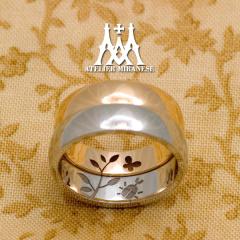 【アトリエミラネーゼ】蝶とカブトムシの内彫り フルオーダーマリッジリング