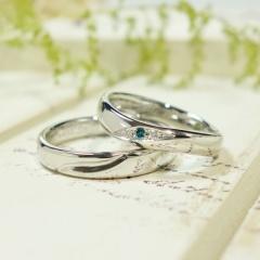 【ATELIER Hu・lala(アトリエ・ウララ)】【二人で手作り結婚指輪】Always Smile ~ 手描きのシンボルマーク ~