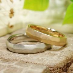 【ATELIER Hu・lala(アトリエ・ウララ)】【二人で手作り結婚指輪】ヒエログリフ文字を指輪に刻んで