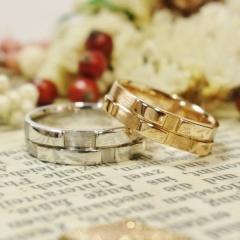 【ATELIER Hu・lala(アトリエ・ウララ)】【二人で手作り結婚指輪】□■□■□ミンサー柄をONLYONEなアレンジで□■■□