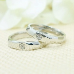【ATELIER Hu・lala(アトリエ・ウララ)】【二人で手作り結婚指輪】愛の聖地・出雲大社の家紋を再現☆