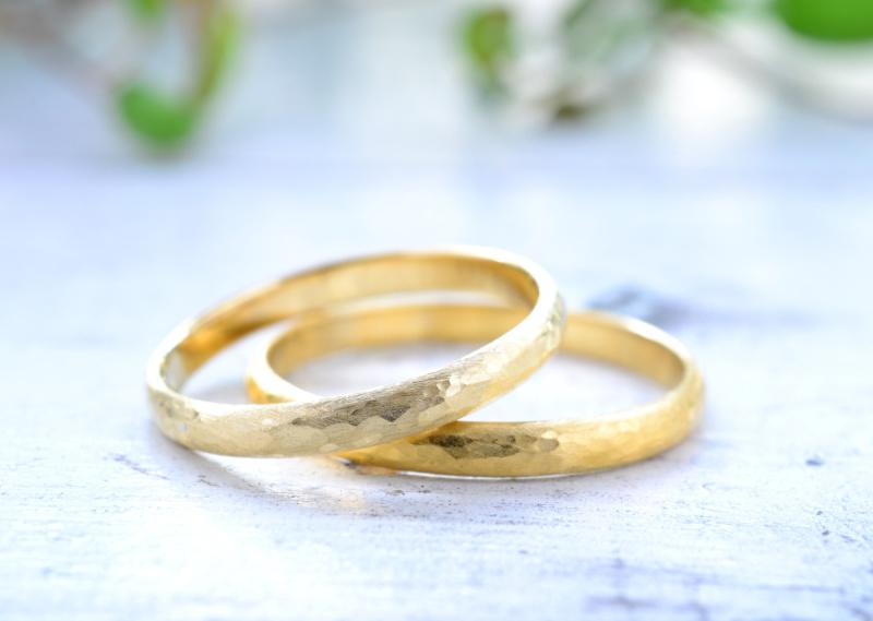 【湘南彫金工房 andfuse】【手作り結婚指輪当日コース】アンティークフィニッシュ