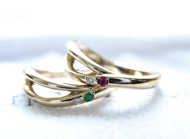 【湘南彫金工房 andfuse】【手作り結婚指輪デザインワックスコース】Y字ラインのお洒落な手作り結婚指輪