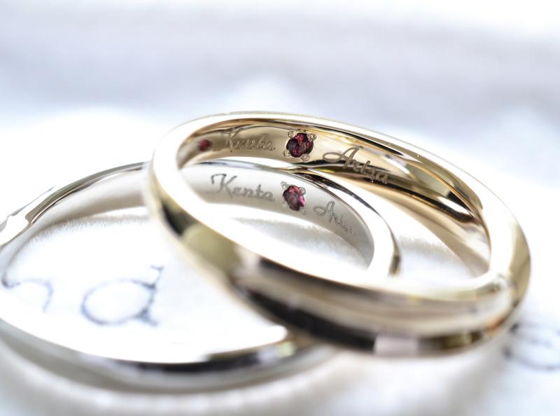 【湘南彫金工房 andfuse】【手作り結婚指輪デザインワックスコース】メビウスデザインにダイアがキラキラな手作り結婚指輪
