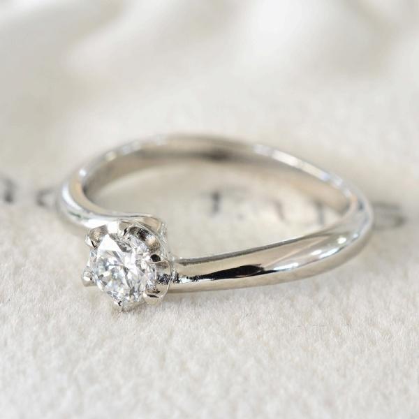 【湘南彫金工房 andfuse】【手作り婚約指輪コース】優しいカーブのデザイン