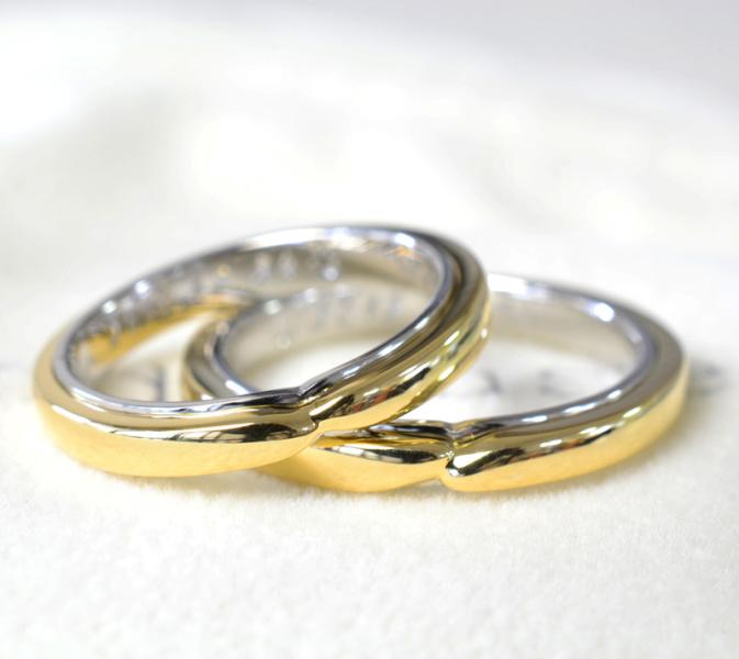 【湘南彫金工房 andfuse】【手作り結婚指輪デザインワックスコース】Hold your hand 手を繋いで行こう