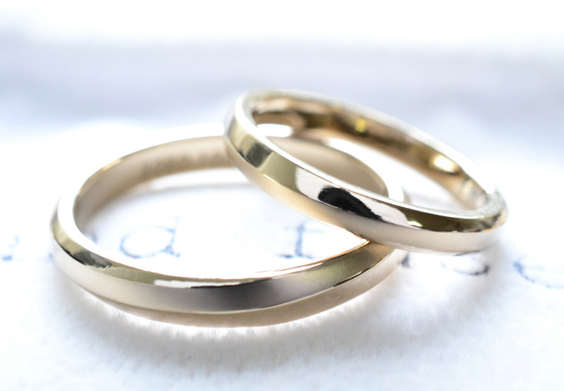 【湘南彫金工房 andfuse】【手作り結婚指輪デザインワックスコース】cho-wa二人の調和を表現したシンプルなデザインの手作り結婚指輪
