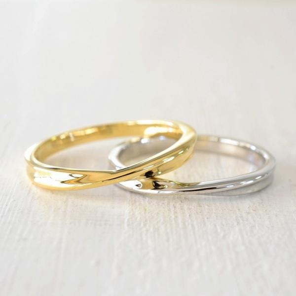【湘南彫金工房 andfuse】【手作り結婚指輪デザインワックスコース】メビウスの結婚指輪(細身のデザイン)