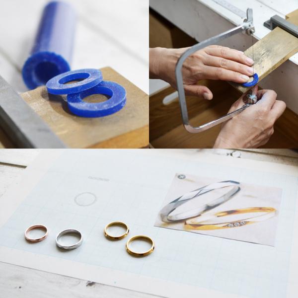 【湘南彫金工房 andfuse】【手作り結婚指輪デザインワックスコース】メビウスの結婚指輪