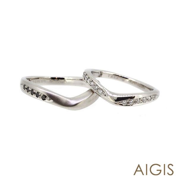 【AIGIS(旧:Jewel HAMA(ジュエルはま))】【二人で作る結婚指輪】メンズ/レディースPt900