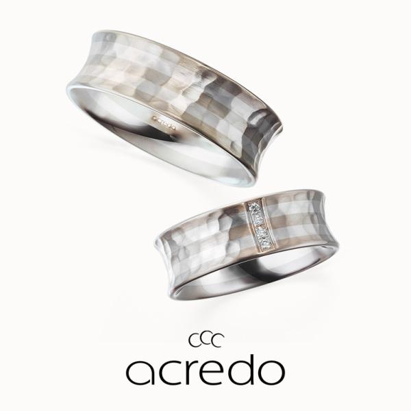 【acredo(アクレード)】【愛は地層のように】幅広タイプの外側を反らせたフォルム。圧迫感のない自然な着け心地に