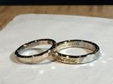ichiの職人の方にデザインして頂き、この世に二つとない指輪になりました。