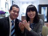 【オレッキオ 横浜元町店】エメラルドカットのダイヤを見て決めました。