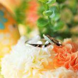 オーダーメイドで婚約指輪と結婚指輪をお願いしました
