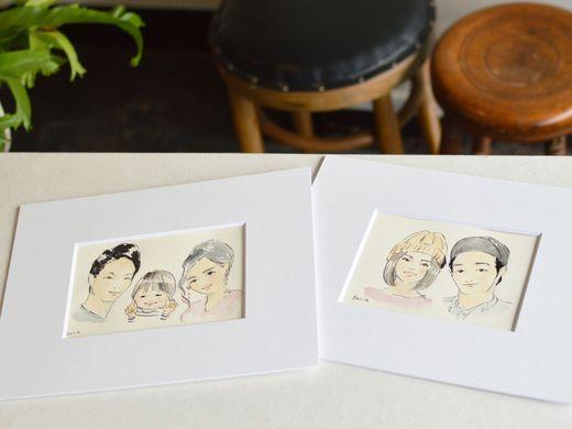 【6月限定キャンペーン】おふたりの似顔絵プレゼント