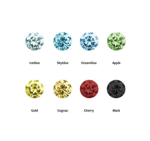 9色のカラーダイヤから選べるシークレットセッティング