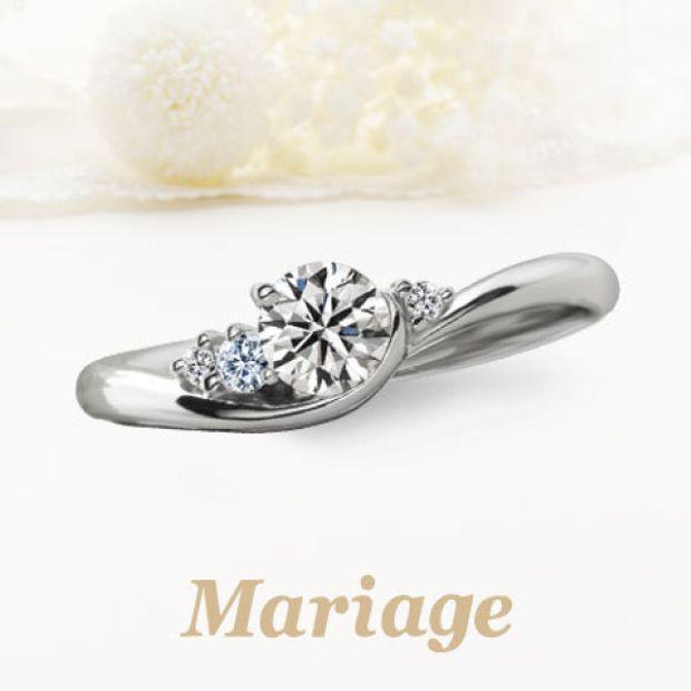 【Mariage ent(マリアージュエント 旧:マリアージュ)】シェリール【Cherir:愛おしい】0.2ct~ ブルーダイヤアレンジ