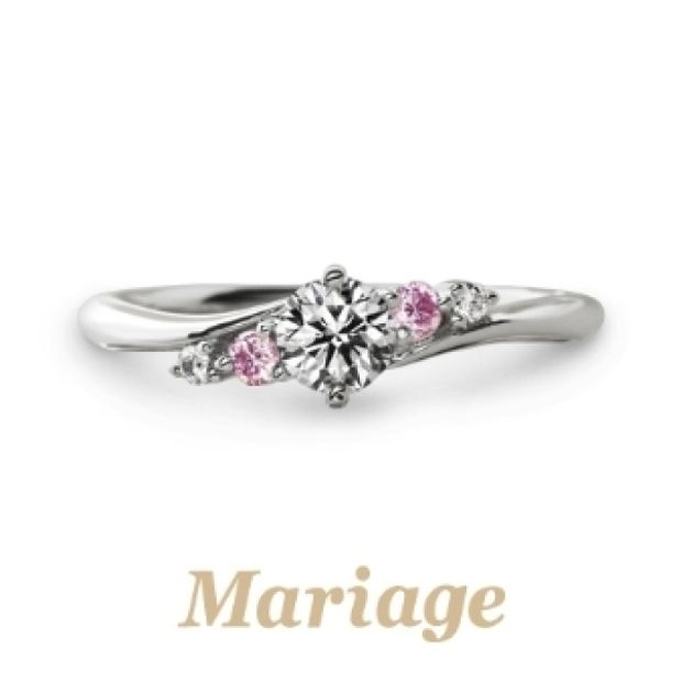 【Mariage ent(マリアージュエント)】《人気TOP5》プレディスィー【Presdici:近くに】ピンクサファイヤアレンジ セットリング