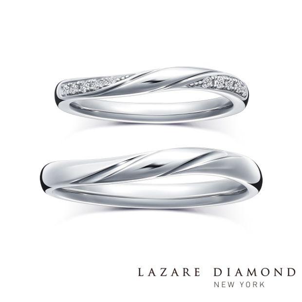 【ラザール ダイヤモンド(LAZARE DIAMOND)】【ショア】寄せては返す波のような、永遠に続く愛をかたちに