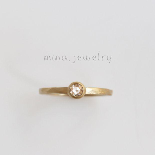 【mina.jewelry(ミナジュエリー)】ローズカットのエンゲージリング