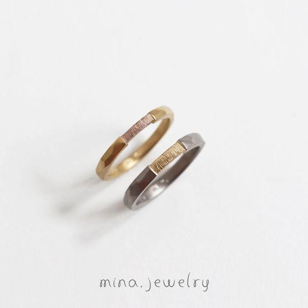 【mina.jewelry(ミナジュエリー)】個性溢れるマリッジリング
