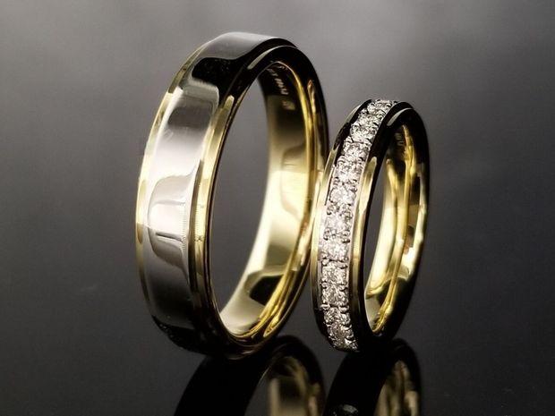 【TANZO(タンゾウ)】平打ちのコンビ加工が美しいご結婚指輪