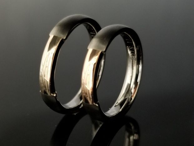 【TANZO(タンゾウ)】熟練した職人でこそ造れる美しさコンビデザインの結婚指輪