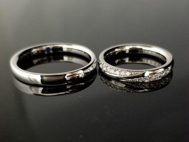 【TANZO(タンゾウ)】プラチナとダイヤモンドが合わさった美しい鍛造指輪