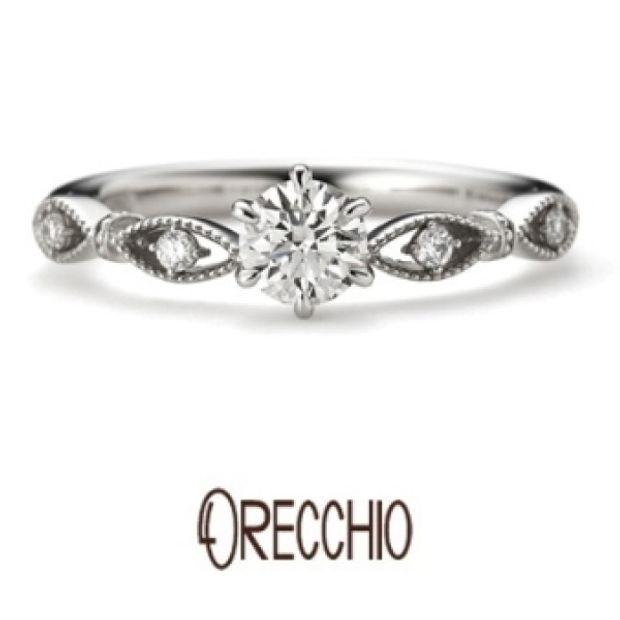 【ORECCHIO(オレッキオ)】パッショナート ~ティアラのようなアームのデザインでエレガントな婚約指輪
